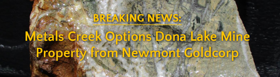 Breaking News! Dona Lake Mine 2019